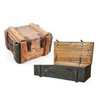 caisse militaire en bois en location