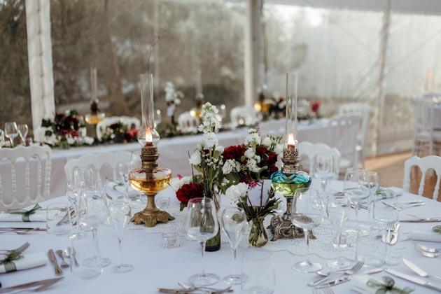 décoration de table lors d'un mariage en Bourgogne