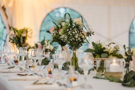 wedding planner à Dijon - décoration de table